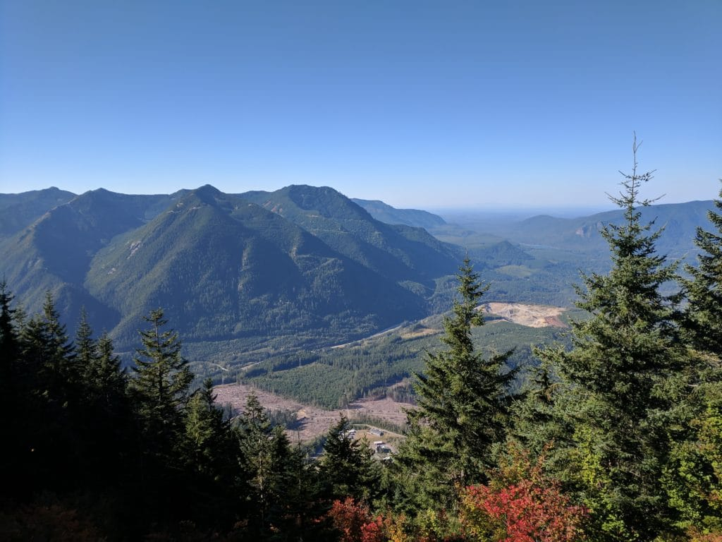 View from the trail to Mailbox Peak