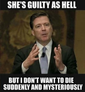 james comey dies mysteriously meme
