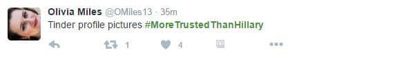 #moretrustedthanhillary tweet