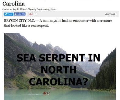 north carolina sea serpent