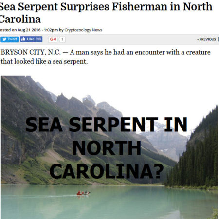 north carolina sea serpent