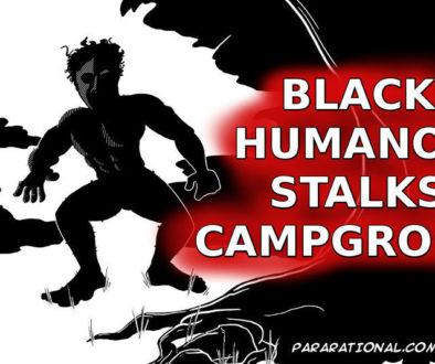 Black Humanoid Sighting