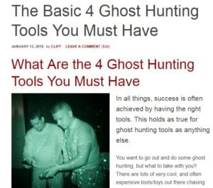 ghost hunting tools