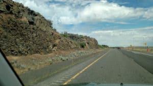 Scene from the road headed East on I90 across Washington