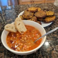 Red and White Bean and Bacon Soup