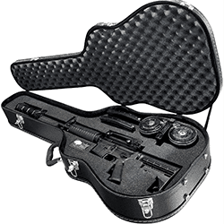 hard sided guitar gun case