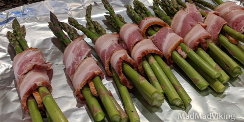 Easy bacon wrapped asparagus spears recipe
