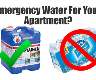 Emergency water for apartment dwellers