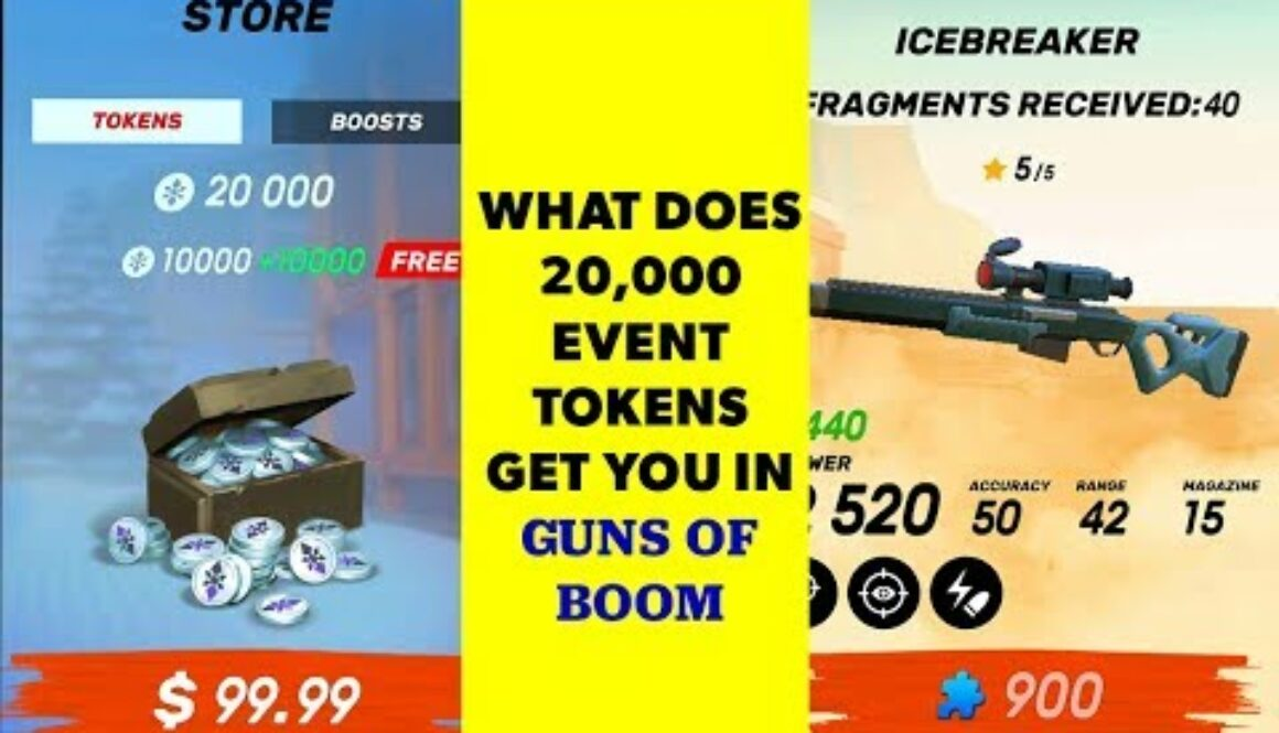Spending 20,000 New Years event coins in Guns of Boom